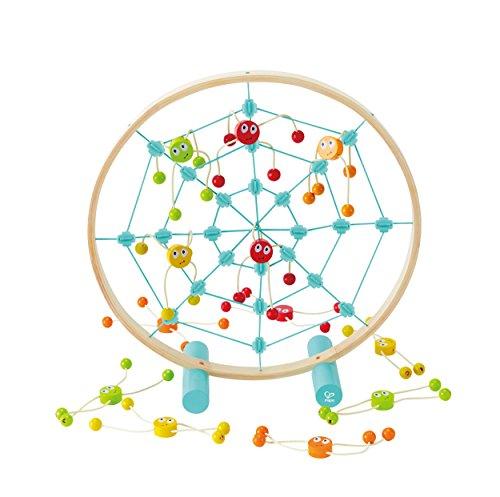 Hape E5555 Tangled Web Toss Game (Multi-Colour) E5555-Spinnenwerfen, Spiel Spinnenwerfen, Wurfspiel