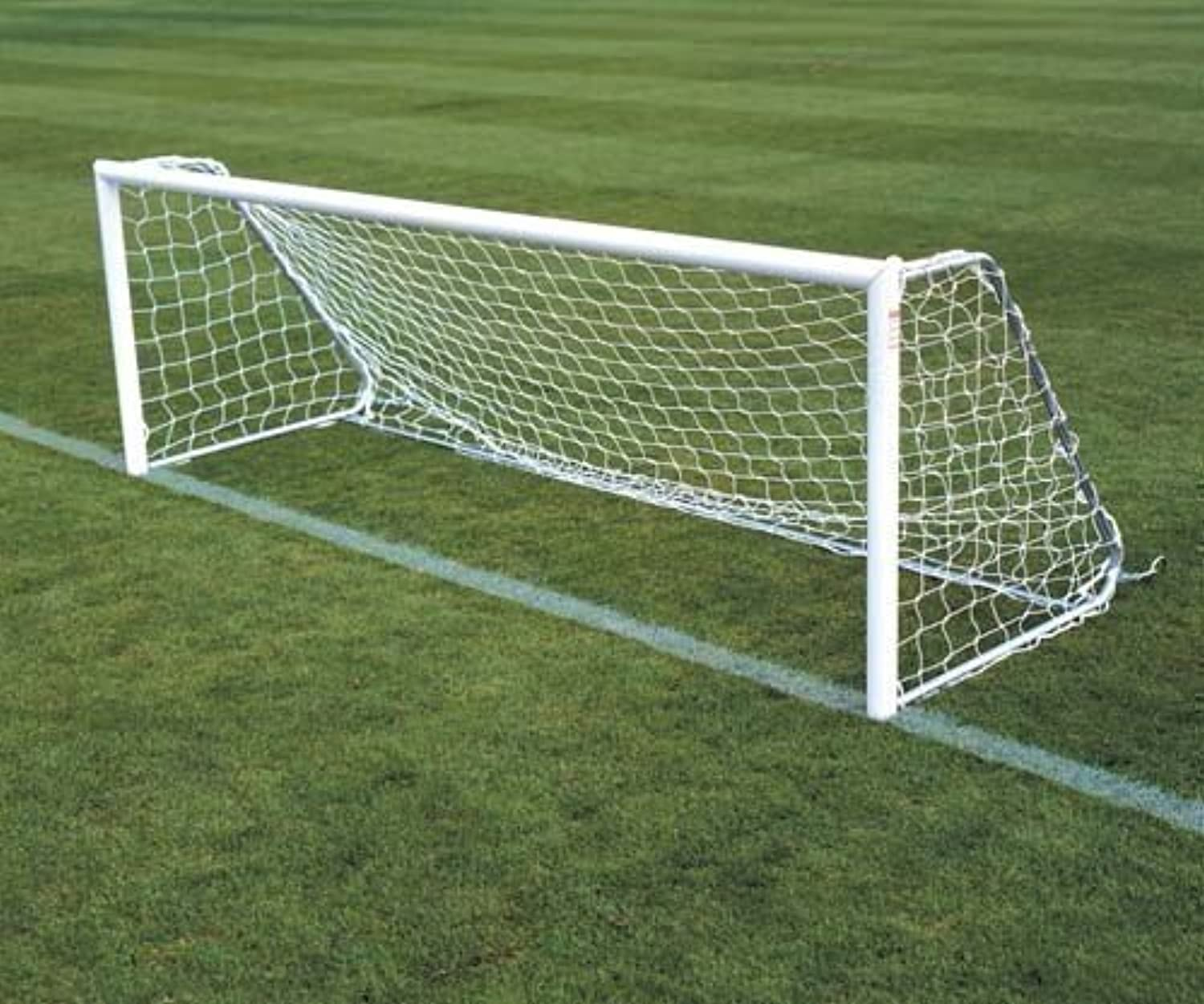 New FiveASide Football Goal Nets Standard Extra Heavy White Polythene Cord Net