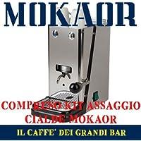 Cafetera Monodosis flytek cremallera inoxidable ese 44mm + 15Cápsulas mokaor Espresso Italiano Dal 1954