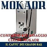 DAS BESTE ITALY Pods Kaffeemaschine Flytek Zip Inox ESE 44 mm + 15 Pods mokaor Espresso Italiano...