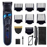 Hatteker Mens Hair Trimmer Clipper Body Hair Groomer Electric...