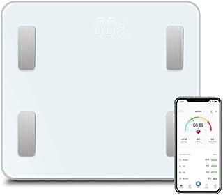 Básculas Digitales Báscula De Piso Báscula De Baño Inteligente Bluetooth Inteligente Bmi Grasa Corporal Báscula Digital Inteligente Balance De Peso Blanco