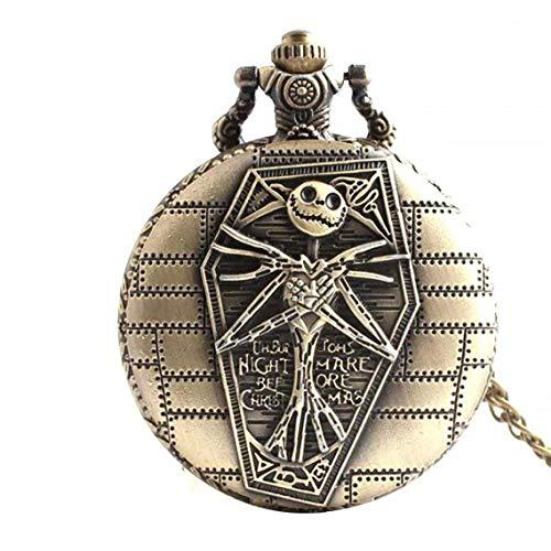 Reloj de bolsillo cráneo relojes de bolsillo retro con el collar de...