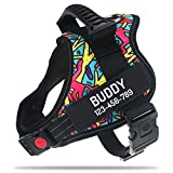 Personalized No Pull Dog Harness with Custom Name and Phone Number by PawPawify, Heavy Duty Pet Vest to Prevent Tugging, Pulling, or Choking, Training and Walking