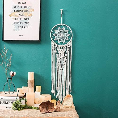 Hylulu - Atrapasueños trenzado, atrapasueños, manos, bohemio, decoración para salón, dormitorio, apartamento, pared o cumpleaños