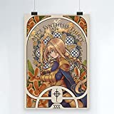 Juego Novela Sword Art Online Póster de Lienzo Comic Impreso Decoración Pintura Sala de Estar Niño Pared Moderna Decoración para el hogar 50x70cm (19.68x27.55 in) Q-306