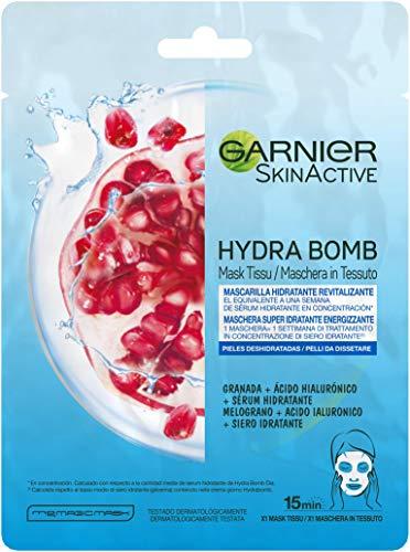 Garnier Skin Active HydraBomb Tissue Mask, feuchtigkeitsspendend und revitalisierend, für dehydrierte Haut