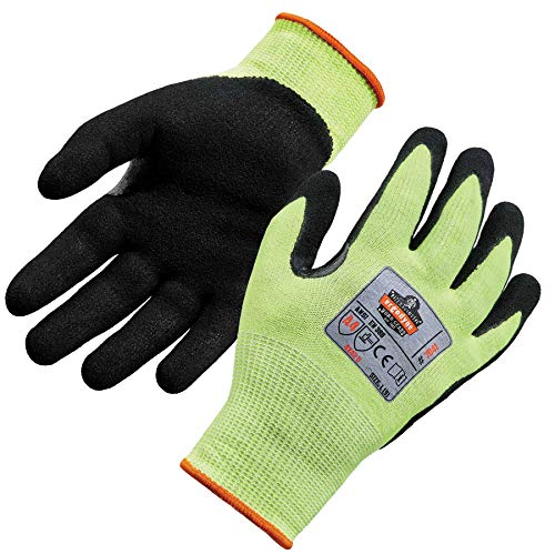 Nitrile Dipped Work Gloves, Breathable Cut Resistant Material, Cut Level A4, Ergodyne ProFlex 7041