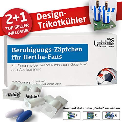 Home-Trikot ist jetzt Mein TRIKOTKÜHLER Geschenk-Set (2X Trikots + 1 ZÄPFCHEN) für Hertha-Fans by Ligakakao.de