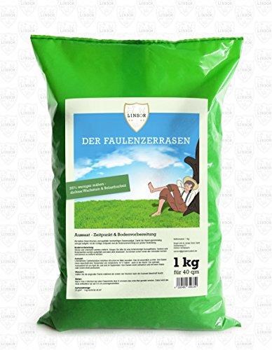 Linsor Faulenzer-Rasen | 1 kg kurzwüchsige Gräsersorten | 25% weniger mähen | dichtes Wachstum und große Belastbarkeit