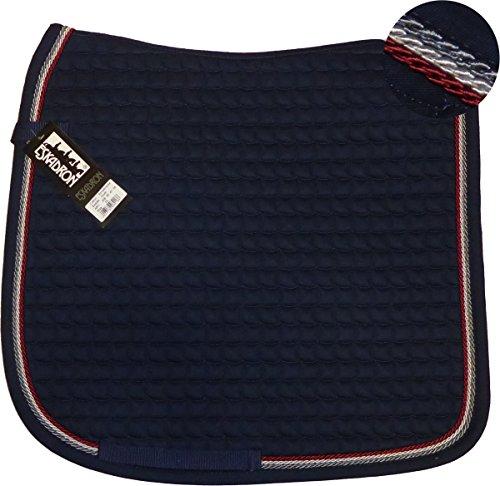 ESKADRON Cotton Schabracke navy, 3fach Kordel anthrazit,silberfarben, bordeaux, Form:Dressur