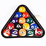 ISPiRiTo Billiard Ball Set Mini Size 1-1/2 Inch Pool Balls Set Complete 16 Balls Set American Style Resin Balls Pool Table Accessories