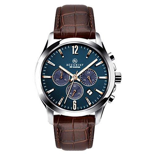 Accurist Herren Chronograph Uhr mit Leder Armband 7198.01