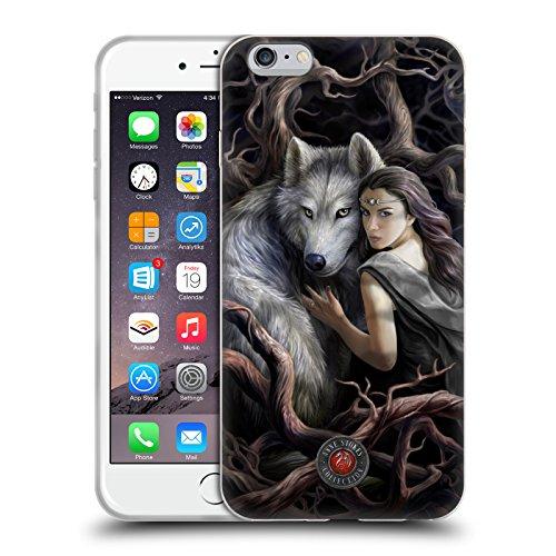 Head Case Designs Licenza Ufficiale Anne Stokes Legame di Anime Lupi 2 Cover in Morbido Gel Compatibile con Apple iPhone 6 Plus/iPhone 6s Plus