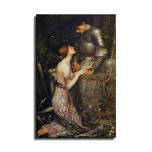 FINDEMO Young Woman Soldier Knight in Armor Painting Canvas Art Poster and Wall Art Picture Print Modern Family Bedroom Decor Posters /0570 (Unframed,16x24 inch)