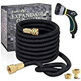 TheFitLife Expandable Garden Hose Pipe - Strongest Triple Core Latex and Solid Metal Fittings 8 Pattern Spray Nozzle EU Standard Expanding Kink Free Easy Storage Flexible Water Hose (100 Feet/ 30M)