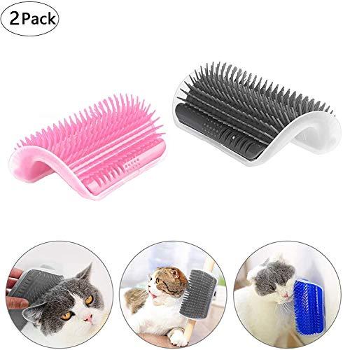 CZF ES 2 STK Katze Selbst Groomer, Katzenbürste Wand, Katze Ecke Massage Bürste, Pet Selbst Groomer Haarentfernung Bürste, zum Verhindert Haarballen und kontrolliert das Abwerfen,für Katzen, Hunde