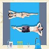 Awroutdoor Coperta da Spiaggia, 210 * 200CM Coperta Picnic Impermeabile Portatile,Tappetino da Picnic con 4 Chiodi fissi Fixed per Picnic, Spiaggia, Viaggi e Altro