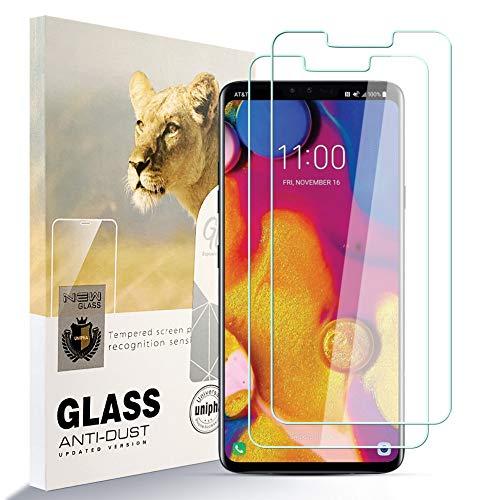 zidwzidwei Protector de Pantalla para LG V40 THINQ [2 Pcs], 9H Dureza Película de Vidrio Templado HD Antihuellas sin Burbujas Fácil de Instalar, Protector de Vidrio paraLG V40 THINQ