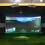 Obokidly Fantastic Golf Ball Simulator Impact Display Projection Screen Indoor Practice/Play Game Entertainment Tools (3MX3M, White)