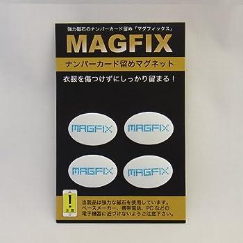 MAGFIX(磁石タイプ ゼッケン留め) ホワイト×ブルー