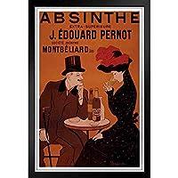 ぶら下げ絵画 - ヨーロッパとアメリカのスタイル壁画 - アブサン・J・エドゥアール・ペルノのビンテージ広告プリント -装飾美術の絵画-39x31cm