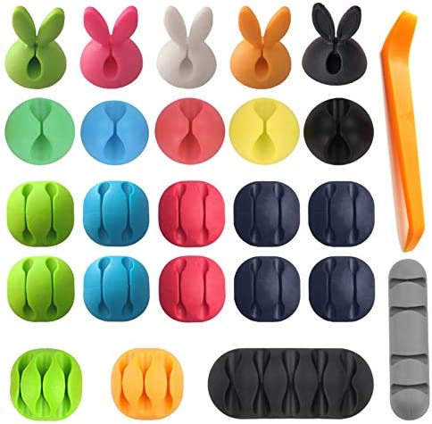 3M Cable Clips Organizer Adhesive Colorful Cord Charger Holder Animal Cute Desktop Multipurpose product image