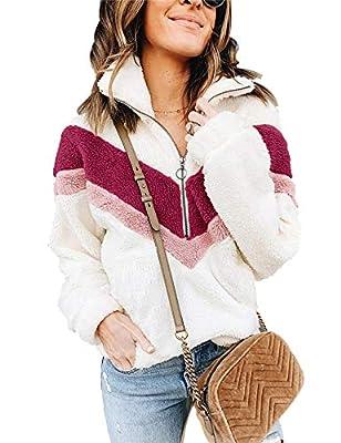 Sherpa Jacket Women Cozy Oversized Fleece Sweatshirt Pullover Outwear Winter Jacket Coat