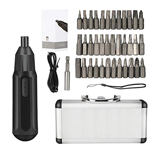 Mini Electric & Manual Screwdriver Kit, 3.6V Rechargeable USB Cordless Screwdriver Light Power Screwdriver with 36pcs Bit, for Home Improvement DIY Project