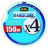 DUEL(デュエル) HARDCORE(ハードコア) PEライン 1号 HARDCORE X4 150m W ホワイト×マーキング H3275-W