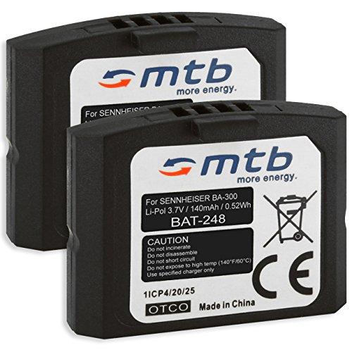 2X Baterías BA-300 para Auriculares inalámbricos Sennheiser RI 410 (IS 410), RI 830 (Set 830 TV), RI 830-S, RI 840 (Set 840 TV), RI 900, RR 4200. - v. Lista
