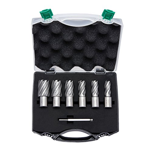 Neiko 10249A Premium Cortador anular, M2 Cobalto HSS | Juego de 6 piezas | 9/16 pulgadas a 1-1/16 pulgadas