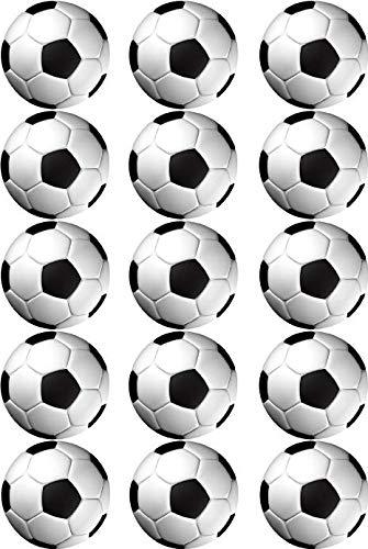 Essbarer Torten- & Muffinaufleger Fußball / 15 Stück 5cm Ø