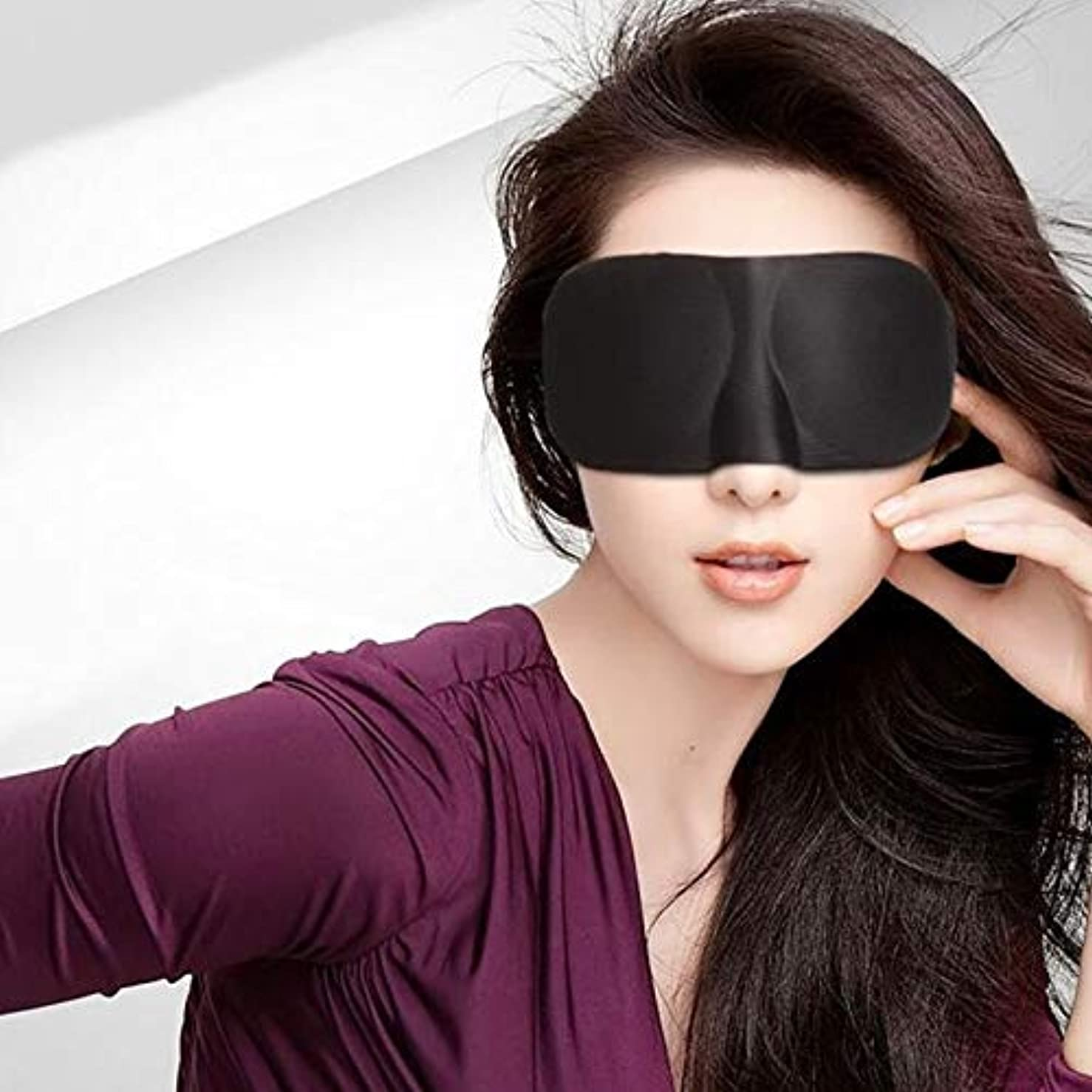 乱闘曲がったしなやかな注1ピース3d睡眠マスクソフトアイマスクカバーポータブル旅行睡眠アイシェードブラインドアイパッチエイドリラックス休憩目隠しアイパッチ