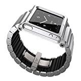 MOSTOP Aviation Aluminum Material Watch Band Wrist Strap for iPod nano 6 (6th Generation) - Silver