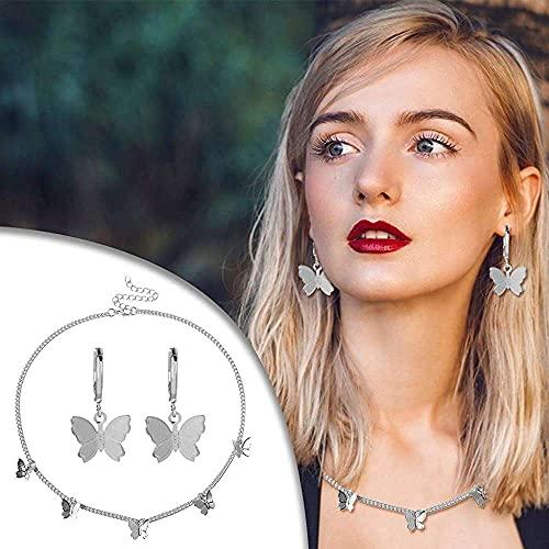 junmo shop Pendientes de oro metálico vintage con cadena grande, para mujer, regalo para mujeres y niñas