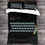 Kinhevao Sinclair ZX Spectrum Gaming Console Juego de Cama de 3 Piezas Funda nórdica, Juego de Cama Decorativo de 3 Piezas con 2 Fundas de Almohada C10712