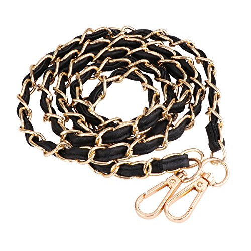 Bag Chain Strap Replacement Accessories for Purse Handbag Shoulder Bag. Made of metal and PU leather, durable and sturdy enough, versatile and removable design. On both ends it has two metal buckles, which allow you to attach the chain to your bag. W...