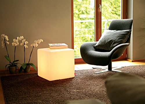 Sitzwürfel beleuchtet, LED Würfel, Beistelltisch LED, Hocker beleuchtet, Cube Indoor mit weissem Licht
