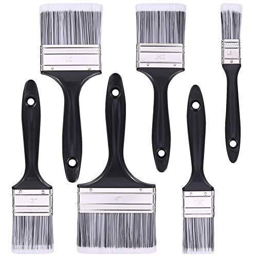 Phoetya 6-teiliges Pinsel-Set, professioneller Ölpinsel Aquarell-Acryl-Flachpinsel Acrylglasur-Pinsel Künstlerpinsel Pinsel Dekorationspinsel Nylonpinsel-Werkzeugsatz für Kunst und Malerei