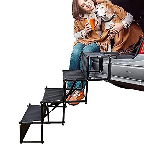 NYCUABT Pastel portátil Pet Car Step S Escala Acordeón Plegable Pet rampa para Camiones Carga, velero, sofá y Cama Alta