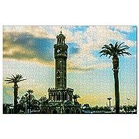 トルコ時計塔イズミルジグソーパズル1000ピースゲームアートワーク旅行お土産木製