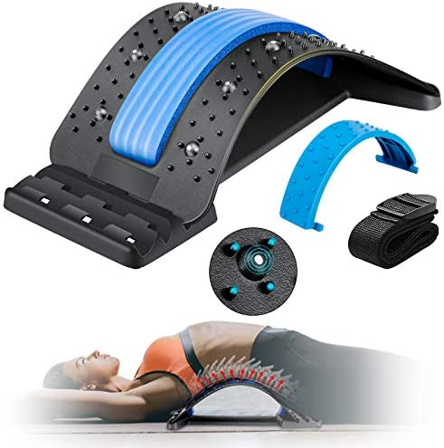 Back Stretcher Enjoyee Spine Deck Back Pain Relief Products with Magnetic Acupressure Points product image