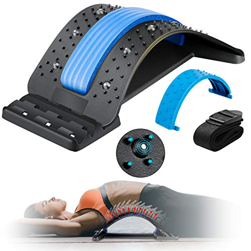 Back Stretcher, Enjoyee Spine Deck Back Pain Relief Products with Magnetic Acupressure Points, Spine...