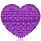 Bdwing Silicona Sensorial Fidget Juguete, Push and Pop Bubble Sensory Toy, Autismo Necesidades Especiales Aliviador del Antiestrs del Juguetes para Nios Adultos Relajarse (Purple-H)