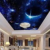 Modern Wallpaper 3D Wall Murals For Living Room Ceiling Mural Star Planet Universe Space Custom Wallpaper Photo Wall Paper 3D-400 * 300Cm Wallpaper Decoration Bedroom Tv Wall Living Room Wallpaper