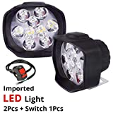 AutoPowerz Imported 9 LED Fog Light for Cars and Bikes