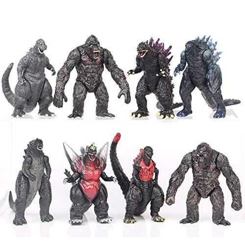 2021 Godzilla Vs King Kong Figures Toys - Godzilla Movie Monster Series Action Figures Toy, Peluche Peluche, Ancient Monster King of the Monsters Giocattoli (B)