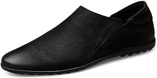 Shoes ローファー メンズシューズ モカシン ペニー ラウンドトゥ スリッポン カジュアル ソフトフラットソール 軽量 Comfortable (Color : ブラック, サイズ : 26 CM)