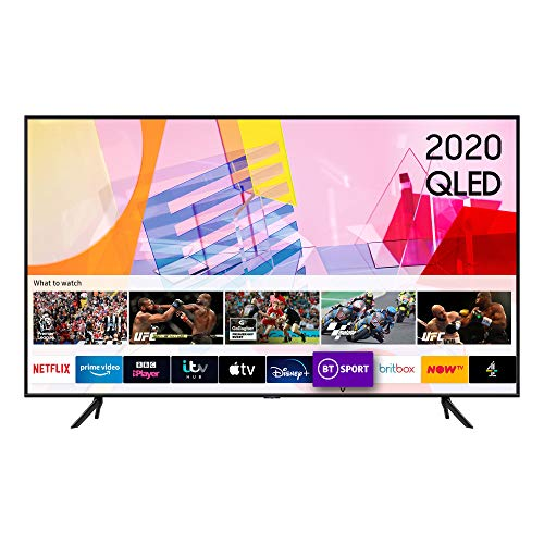 "Samsung 2020 75"" Q60T QLED 4K Quantum HDR Smart TV with Tizen OS Black"